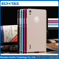 Hot selling Metal Bumper + PC back cover phone case for Huawei ascend p7 case, cover for Huawei ascend p7