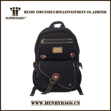 2014 Personality Black Canvas School Canvas Bags
