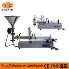 Semi automatic pneumatic honey bottle filling machine