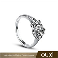 2015 summer fashion engagement couple rings made with Austrian crystal jewerly