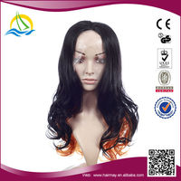 Factory price Heat synthetic Fiber high ponytail full lace wigs