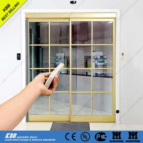Residential commercial automatic sensor glass sliding door for Residential sliding doors