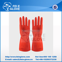 Household use cotton lined rubber gloves, cleaning gloves