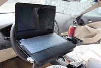HF-SD1054(04) Factory Supply Directly Multi Car Tray Table Folding Car Seat Organizer Food Tray Computer Car Travel Table