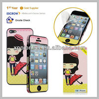 Various Designs Mobile Phone/Cellphone Vinyl Stickers/Skin For Iphone 5/5S with OEM Designs