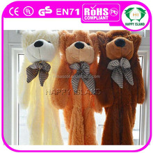 HI CE 2015 new semifinished bear toys teddy bear skins wholesale unstuffed plush animals