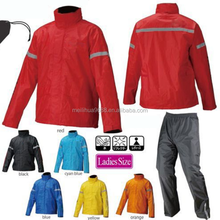 New Products 2016 Polyester Or Nylon Waterproof Safety Reflective Golf Rain Suit Rain Gear