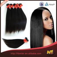 Brazilian human virgin raw unprocesse virgin indian hair weaving with high quality
