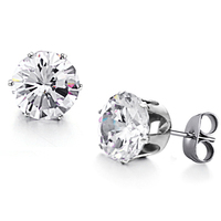 Wholesale 2015 New Hot Sales Fashion Jewelry Women's 316l Stainless Steel Crystal Stud Earrings For Women Gift Ge218