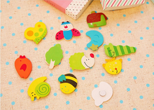 colorful wooden fridge magnets