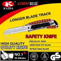 zinc alloy handle long blade track utility knife cutter