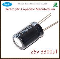 capacitor manufacturer wholesale Aluminium Electrolytic Capacitor 25v 3300uf