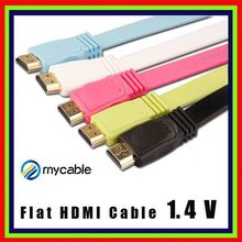 high end flat HDMI to HDMI cable for blue-ray 3D PS3 HDTV 1080P 4K hdmi to 3.5mm video