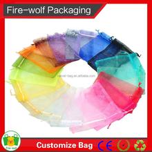 Hot Wholesale High Quality Customized Logo Organza Bag Printed Drawstring Organza Shoe Bag Wholesale