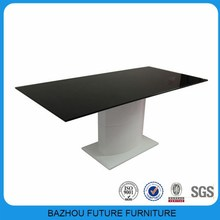 luxury glass hot selling high quality MDF pillar dinning table