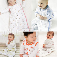 Aden Anais Baby Thin Sleeping Bag 100% Muslin Cotton Sleepsacks For Spring Summer 83cm Length For 10-18 Months Blankets