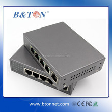 High quality POE Switch 5 ports 1000M Power over Ethernet Switch with 4 poe port and 1uplink port