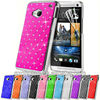 Chrome hard case for HTC One M7 diamond bling phone case for htc