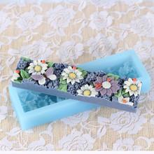 d0027 büyük el yapımı çiçekler bar şekli somun silikon sabun kalıpları