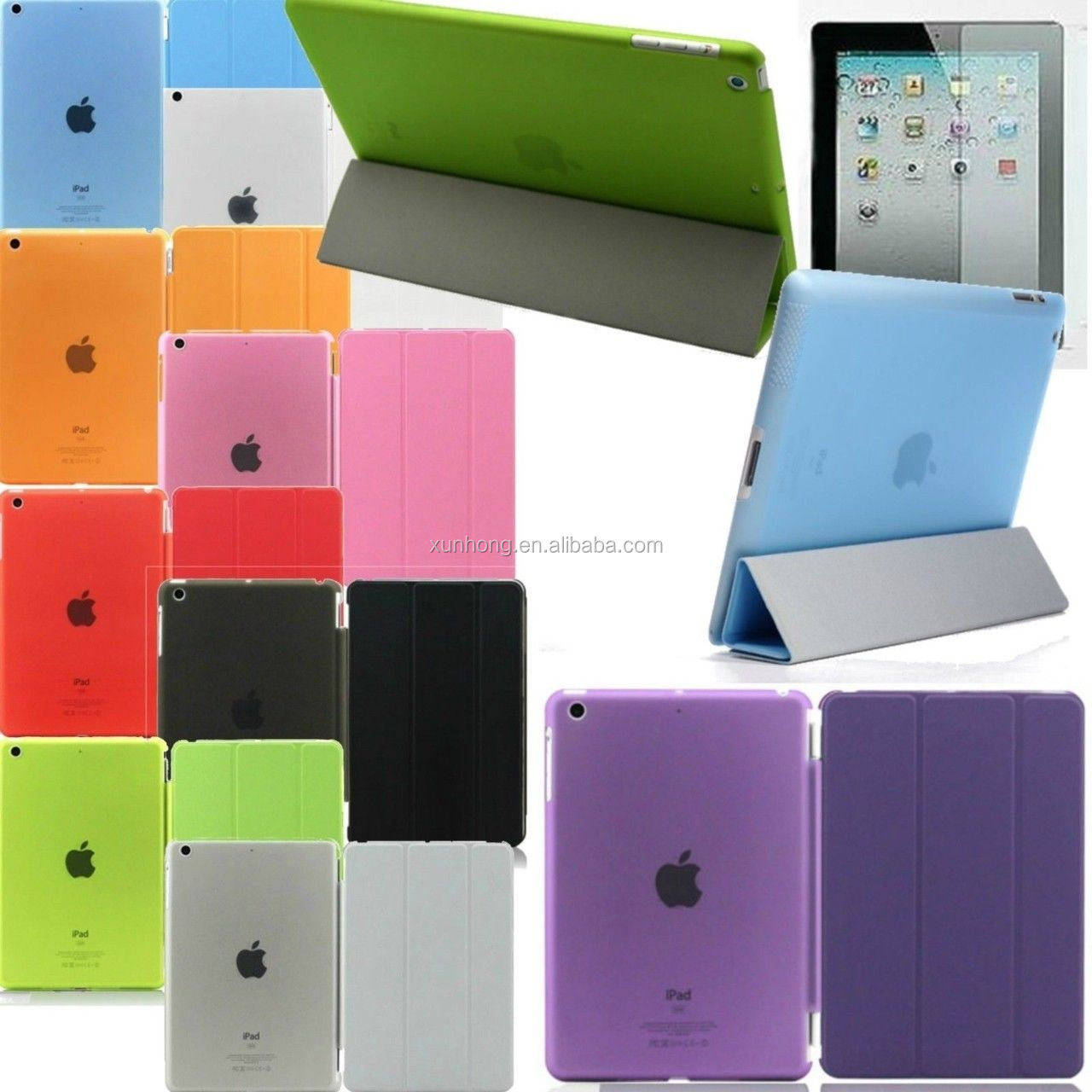 J1073 Transparent tpu with leather Luxury Smart Clear Case Cover for iPad Mini