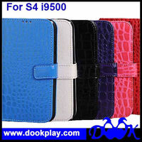 Crocodile PU Leather Case For Samsung Galaxy S4 SIIII i9500 Flip Wallet Credit Card Cover