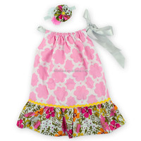 red Peony Flower Pillowcase Dress Wholesale Boutique Clothing Infant Girl Summer Pillowcase Dress