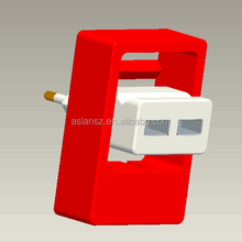 WP-031 With 90 Degree Rotating Stand 5V 2A Dual USB CE Certified Travel Charger