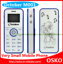 October M001 Tiny Mini Mobile Phone FM Radio Cartoon Back Cover