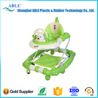 PLASTIC-391 height adjustable big wheel baby walker made in China