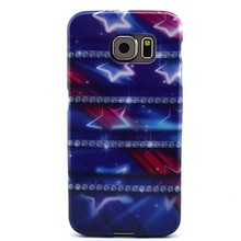 Purple Star Pattern TPU Soft Case for Samsung Galaxy S6