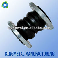 Concrete wall Dual Ball Rubber Expansion Joint with flange