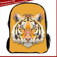 Wholesale OEM custom canvas school backpack bags