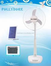 Nueva Solar soporte del ventilador Ventilador recargable con luz LED Ventilador 2 Ventilador velocidad PLD-15