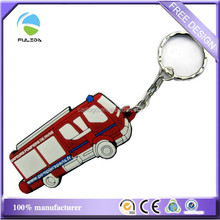 2d custom shaped soft pvc keychain