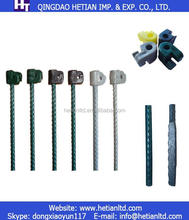 Pastrue Powder Coated Electric Fencing Post Metal Fence Post with insulator