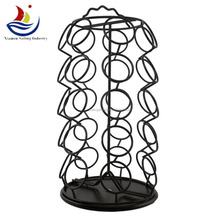 Coffee cup display stand metal wire holder rack with tea cup rack China factory Ablibaba gold supplier