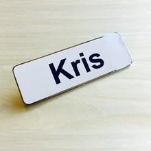 Custom made enamel name badges