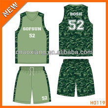 Upper cutting fit style 100% polyester basketball game clothing