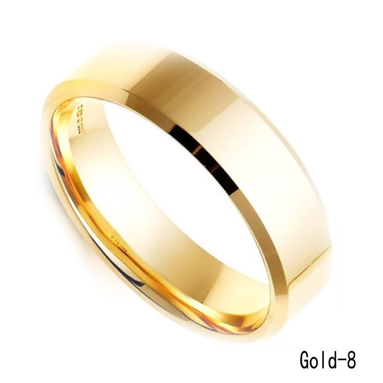 Wholesale-Cool Simple Men Ring Black Gold Silver Stainless Steel ...