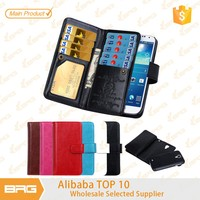 Luxury wallet Leather Flip Cover Case for Samsung S4
