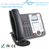 3 Lines PoE VoIP Phone, Professional PoE IP Phone Support 3 SIP accounts, Enterprise HD SIP Phone Support Multi-language