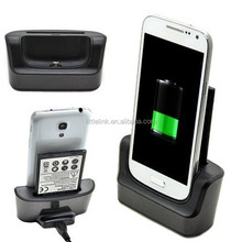 Battery Charger + Phone Desktop Charging Dock,Docking Station,Cradle Double Charger Base for Samsung Galaxy S4 i9500
