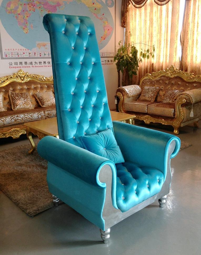 Nail Spa Chair , High Back Velvet Chair , Throne Nail Chair Salon Furniture