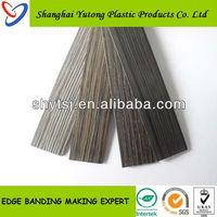 Laminated rubber wood edge banding