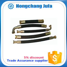 hydraulic pipe rubber gas hose pipe up to 500 celcies degree temp