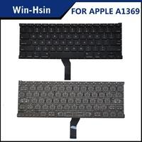 """New genuine us black keyboard for macbook air 13"""" a1369 2011 a1466 2012 2013 keyboard"""
