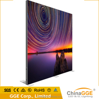 illuminated sign backlit frameless hang led light box for outdoor ad dispaly