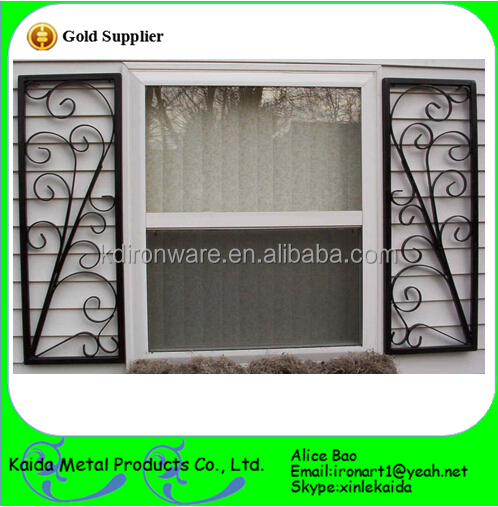 Hot Selling Latest Wrought Iron Window Grill Design View