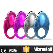 Rechargeable Silicone Vibrating Sex Ring For Man Masturbation Paypal Accepted