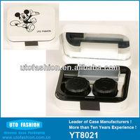 YT8021 Pink contact lens case solution bottle & travel kit